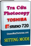 Setting Mode Photocopy Toshiba e-Studio 720 / E720