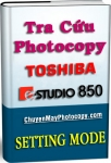 Setting Mode Photocopy Toshiba e-Studio 850 / E850